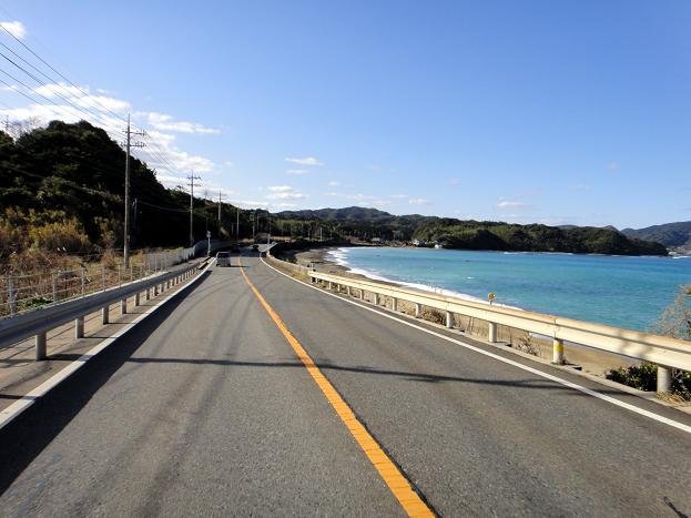 20 日本海を見ながら走る.JPG