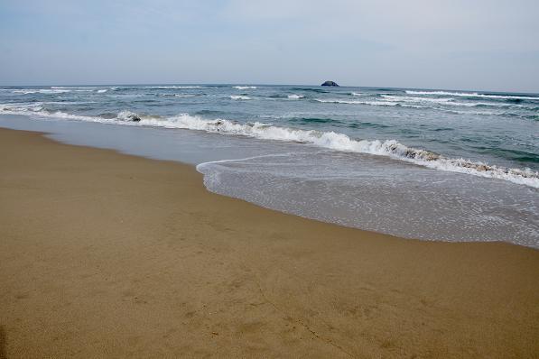 あまり落ちてないビーチです.JPG