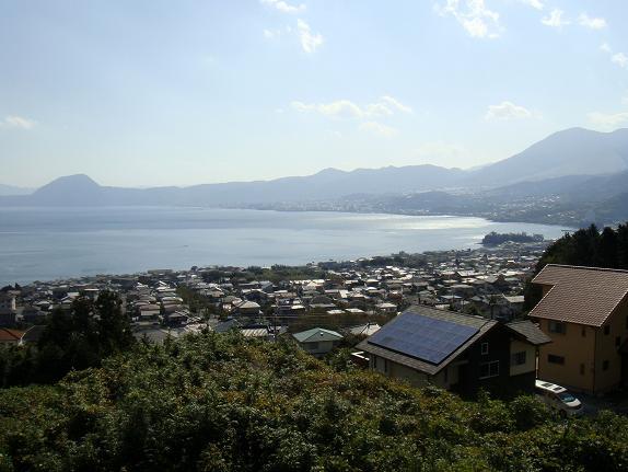 別府湾を国東半島側から見ています.JPG