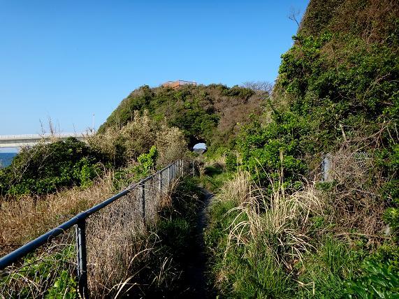 展望所の下のトンネル.JPG