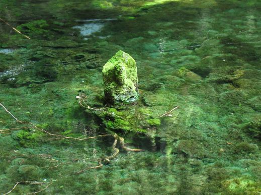 水底から出てきた仏像.JPG