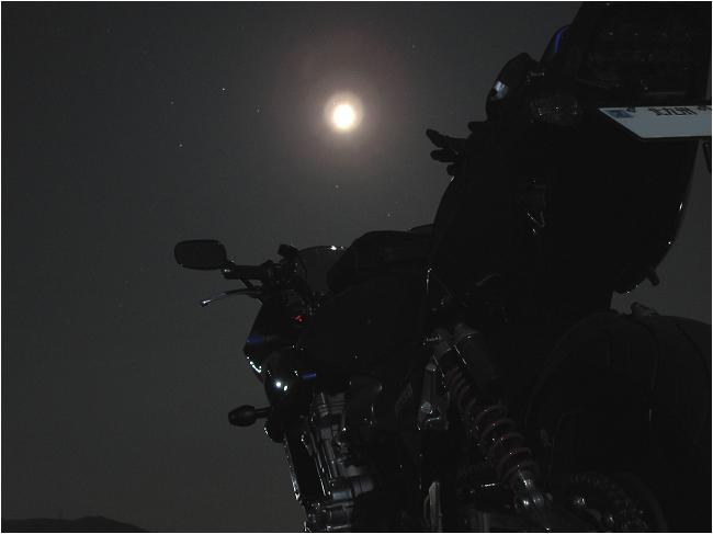 夕日の後は綺麗な月.JPG