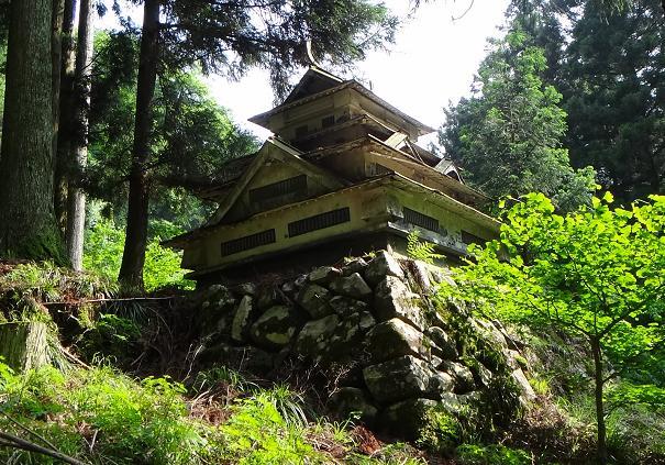 林道にオーバーな城.JPG