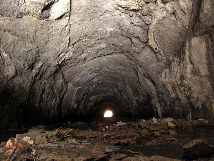 迫力の隧道内部.JPG